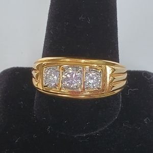 Other - Gold plated Cubic Zirconia Cocktail Ring